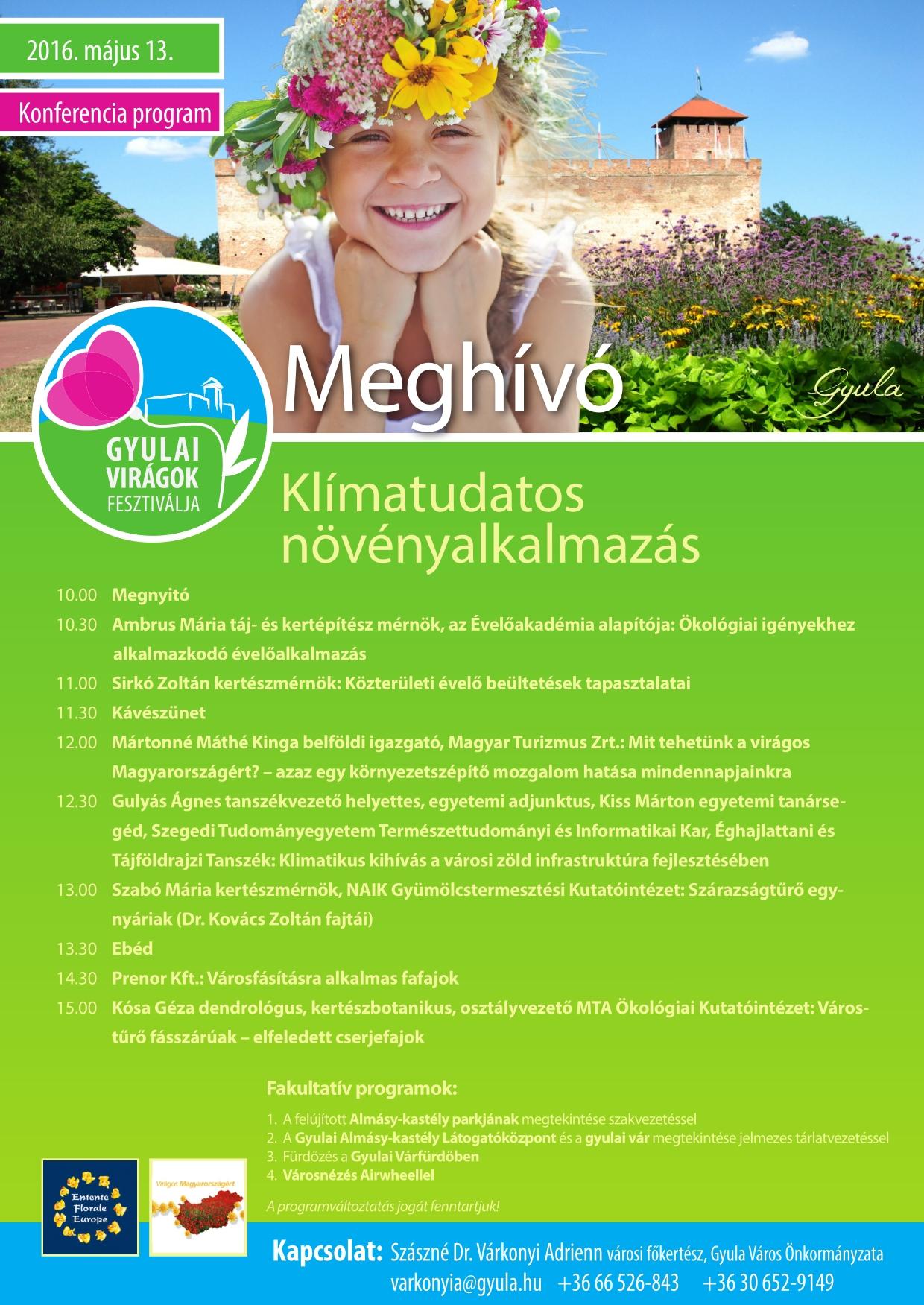 Klímatudatos növényalkalmazás konferencia
